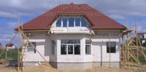 Строительство дома из пеноблока, газобетона