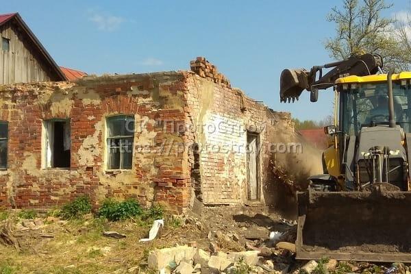 Демонтаж стен зданий 15
