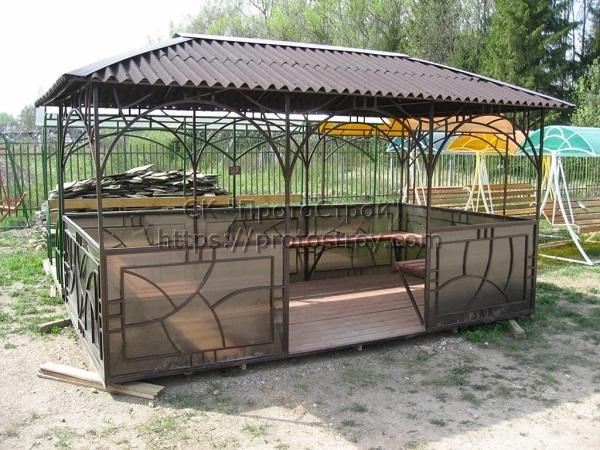 Металлическая мебель производство беседок из металла цена Днепр 4