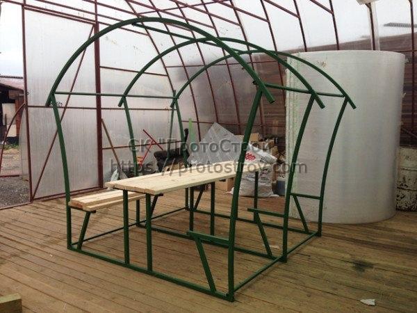 Металлическая мебель производство беседок из металла цена Днепр 7